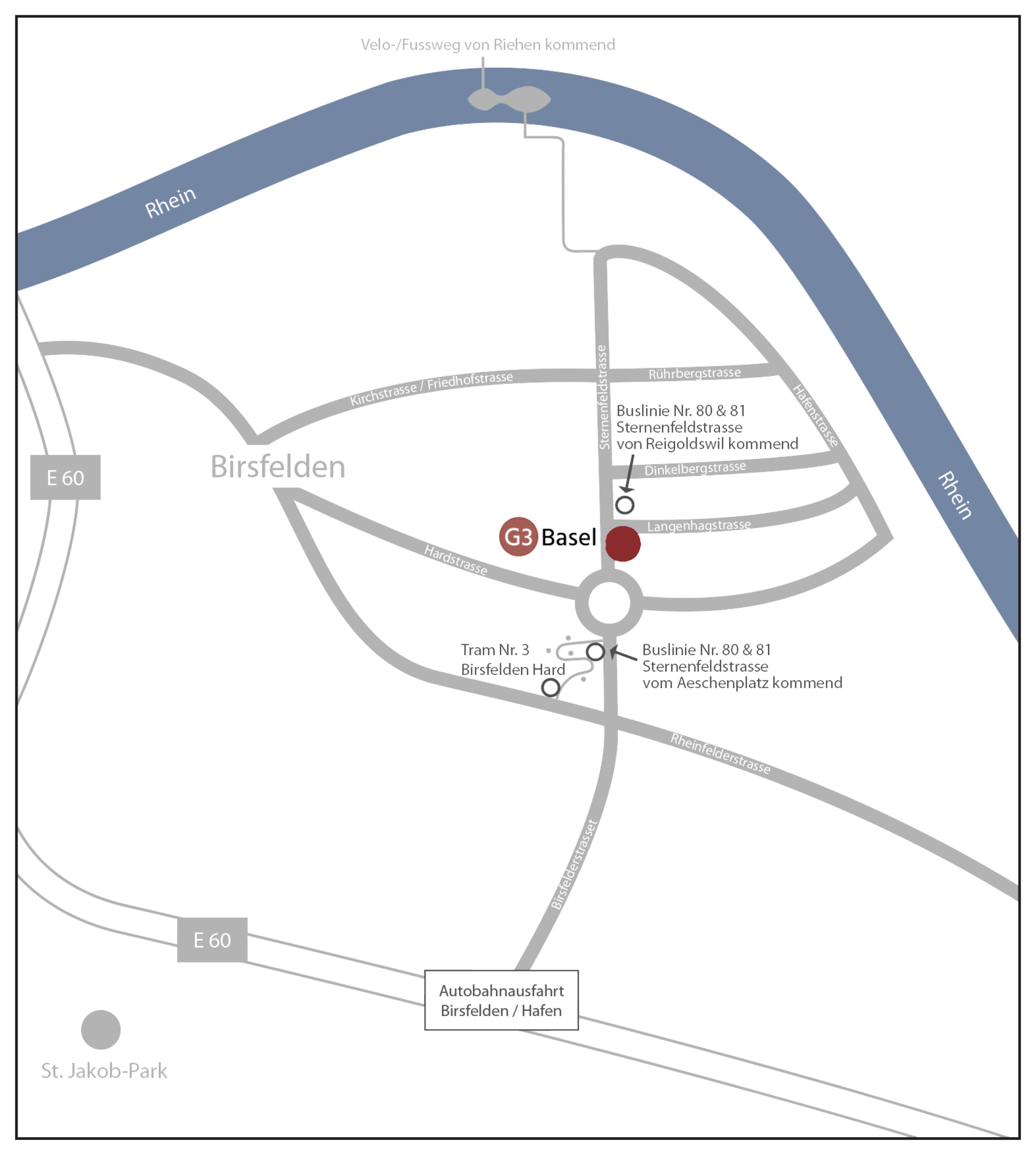 G3 Basel Wegbeschreibung